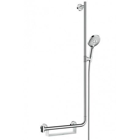 Hansgrohe Set de douche Raindance Select S 120 EcoSmart 9l/min / Unica'Comfort 1,10 m poignée à gauche (26327000)