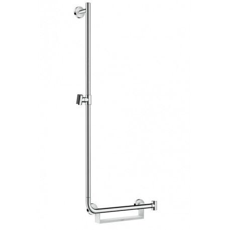 Hansgrohe Barre de douche Unica'Comfort 1,10m avec poignée à droite, sans flexible (26403400)