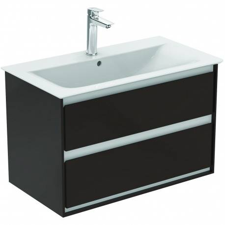 Ideal Standard CONNECT AIR Meuble pour lavabo-plan 517 x 800 x 440 mm Couleur marron chocolat mat  (E0819VY)