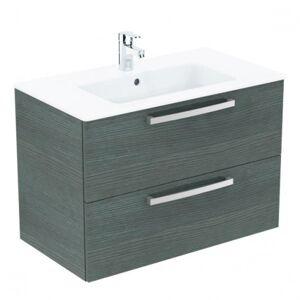 Ideal Standard -  Lavabo + meuble (K2978SG) coloris chêne gris, 81,5 x 45 x 56,5 cm