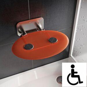 Ravak Ovo-P II-Orange siège de douche rabattable PMR pour cabine de douche (B8F0000050) - Publicité