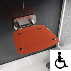 Ravak Ovo-B II-Orange siège de douche rabattable PMR pour cabine de douche (B8F0000053) - Publicité