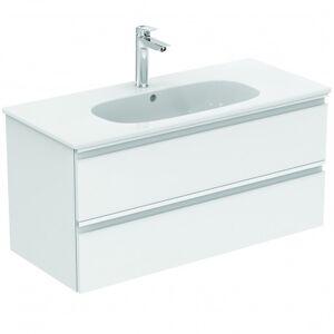 Ideal Standard TESI Meuble pour lavabo 100 x 44 x (H) 49 cm Couleur voile de bleu mnat (T0052WI)