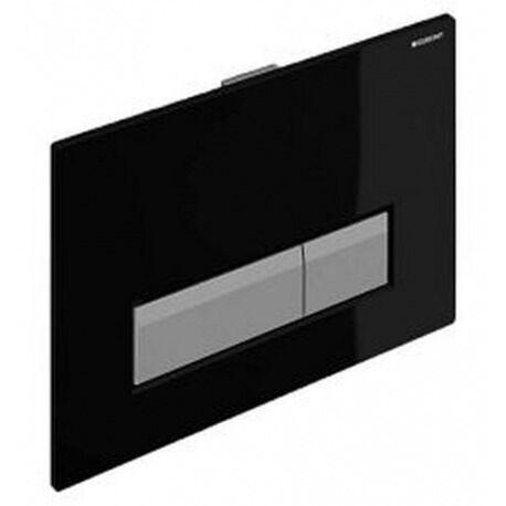 Geberit Sigma40 Plaque de déclenchement  pour rinçage double touche, avec aspiration des odeurs intégrée, Noir (115.600.KR.1)