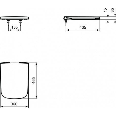 Ideal Standard Abattant WC fermeture amortie (J505801)