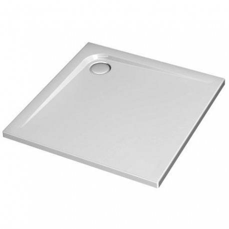 Ideal Standard Receveur ULTRA FLAT carré, 90 x 90 cm, extra-plat, avec traitement anti-dérapant, blanc (K5173YK)