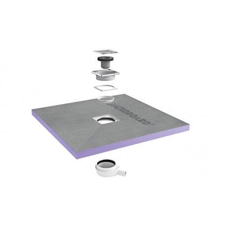 Jackon Receveur de douche à carreler Aqua Centré 1000x1000x40mm siphon horizontal offert (4512088 + 4512007)