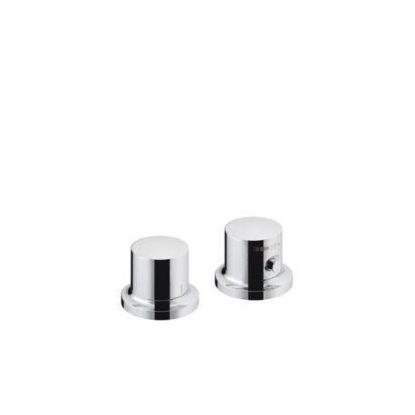 Axor MASSAUD - Set de finition pour thermostatique 2 trous pour montage sur bord de baignoire ou plage de carrelage (18480000)