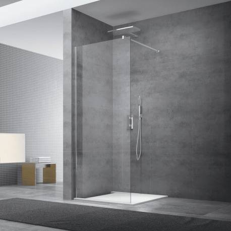 Swiss Aqua Technologies Paroi de douche à l'italienne 87x200 cm Walk-in, anti-calcaire, verre transparent (WI90-SET)