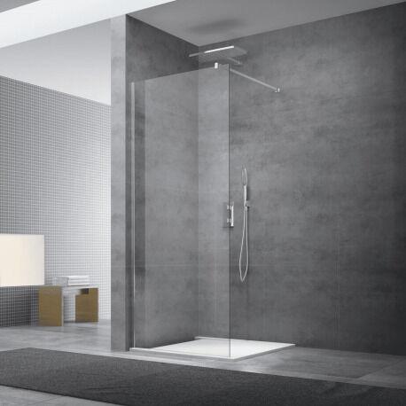 Swiss Aqua Technologies Paroi de douche à l'italienne 87x200 cm Walk-in, anti-calcaire, verre transparent (WI90-SET)