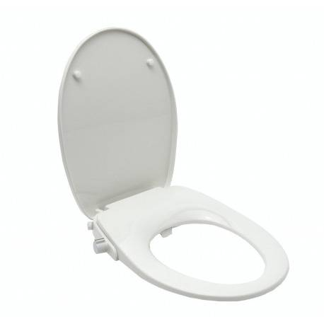 Swiss Aqua Technologies Abattant WC japonais, siège de toilette Softclose sans électricité avec bidet intégré, blanc (SATBEASY2233)