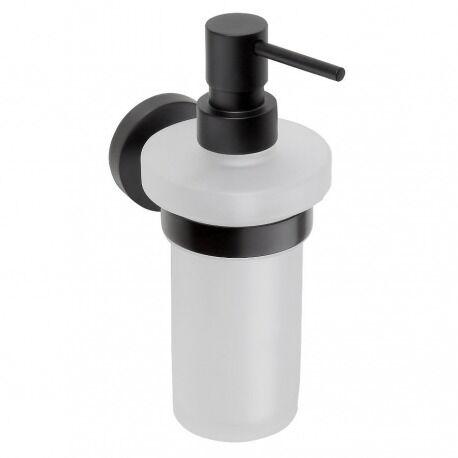 BEMETA Distributeur de savon mural DARK en laiton noir et verre 230ml (104109010)