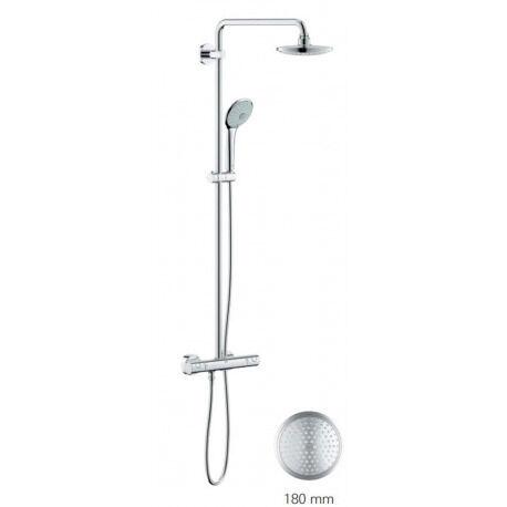 Grohe Euphoria System 180 Colonne de douche avec mitigeur thermostatique + accessoire anticalcaire WashBal offert (27296001)