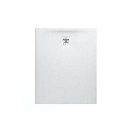 Laufen Receveur de douche en gel coat Marbond, extra-plat, évacuation sur le côté court 100x80, Blanc mat (H2109510000001)