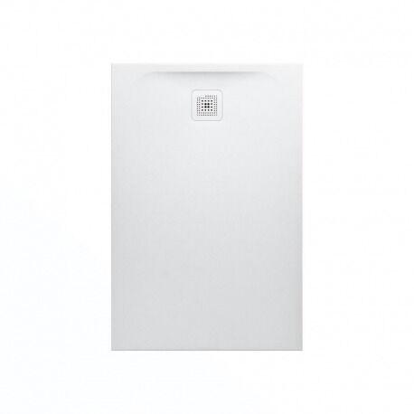 Laufen Pro Receveur de douche en gel coat Marbond, extra-plat, évacuation sur le côté court 120x90, Blanc mat (H2109580000001)