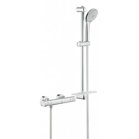 Grohe Grohtherm 1000 Cosmopolitan M : ensemble de douche thermostatique 600 mm, chrome (34286002)