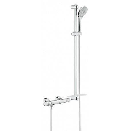 Grohe Grohtherm 1000 Cosmopolitan - Thermostat mitigeur de douche M, douche réglé 900 mm, chrome (34321002)