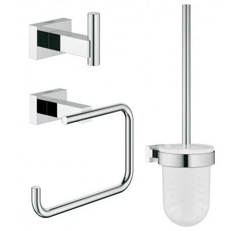 Grohe Essentials Cube  Set accessoires 3-en-1 pour toilettes publiques