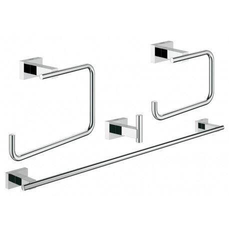 Grohe Essentials Cube  Set d'accessoires 4-en-1 à la salle de bains principale