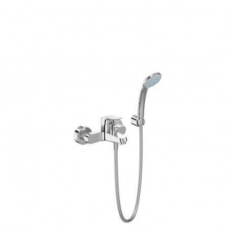 Ideal Standard CERAFLEX Mitigeur bain/douche avec set de bain 80mm 1F, flex 1500mm ( B1722AA)
