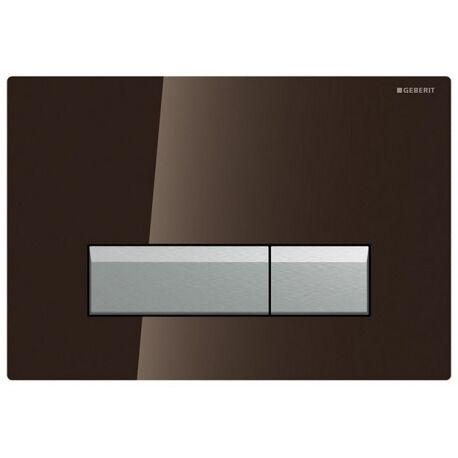Geberit Plaque de déclenchement Sigma 40, verre chocolat (115.600.SQ.1)