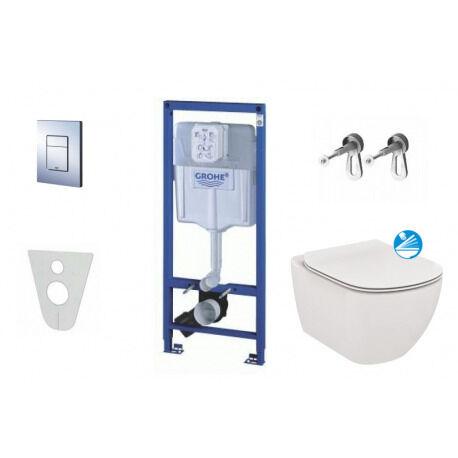 Grohe Set pour suspendre toilette + toilette et siège Ideal Standard Tesi (38528SET-KE)
