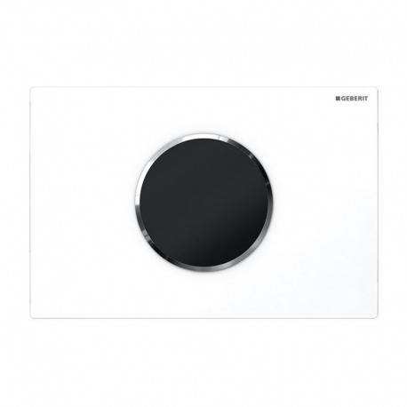 Geberit Plaque de Commande Sigma10 alimentation par pile sans contact rinçage double touche, Blanc/glossy chrome(115.908.KJ.1)