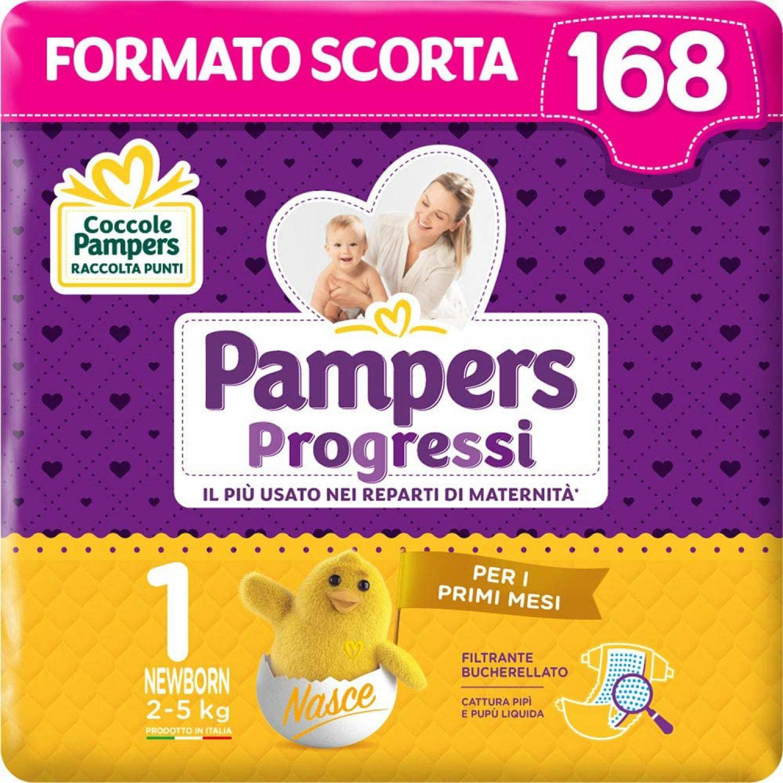 Pampers Format de stock Pampers Progressi Newborn 2-5 Kg Taille 1 (168pcs)