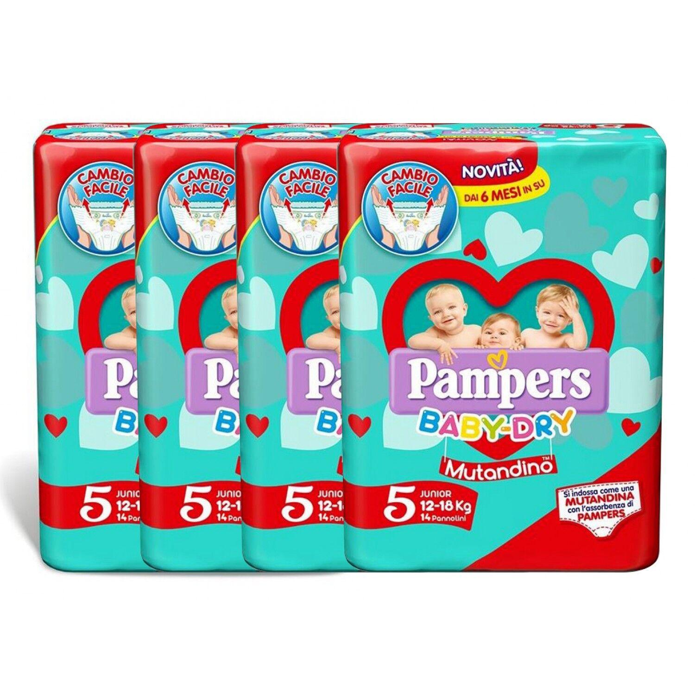 Pampers Baby Dry Diaper Kit 12-18 Kg Panty Size 5-4 Packs de 14pcs