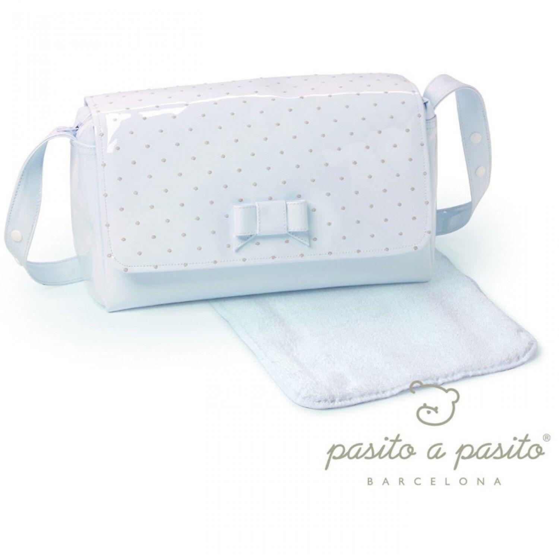 Pasito a Pasito Sac + matelas à langer Pasito a Pasito Topito en éco-cuir à pois Beige /