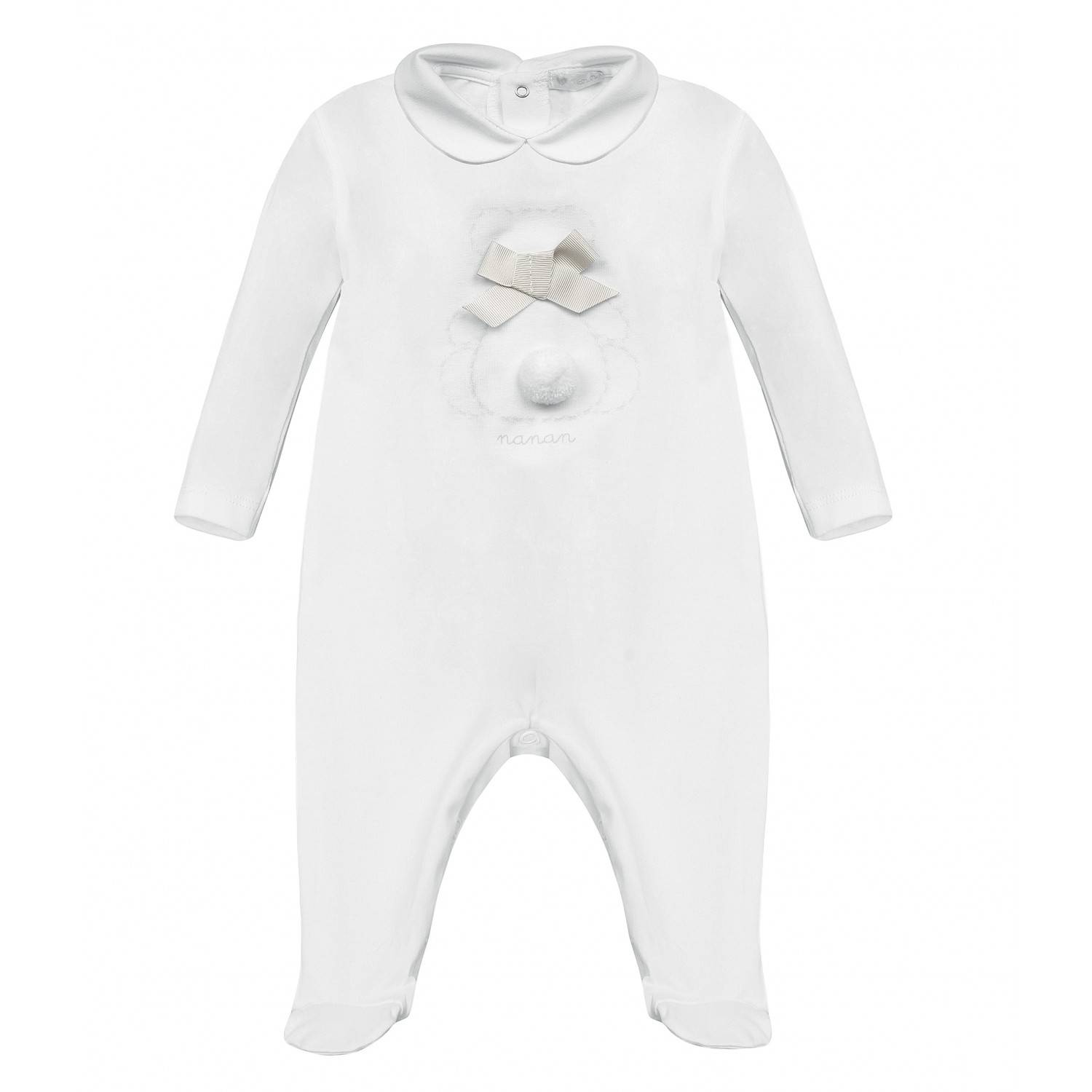 Nanan Onesie Ours Blanc Taille 6 Mois