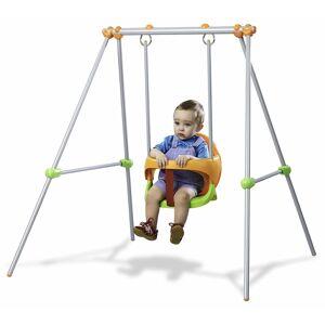 Smoby Jeu De Plein Air Balançoire Portique Métal Baby Swing - Publicité