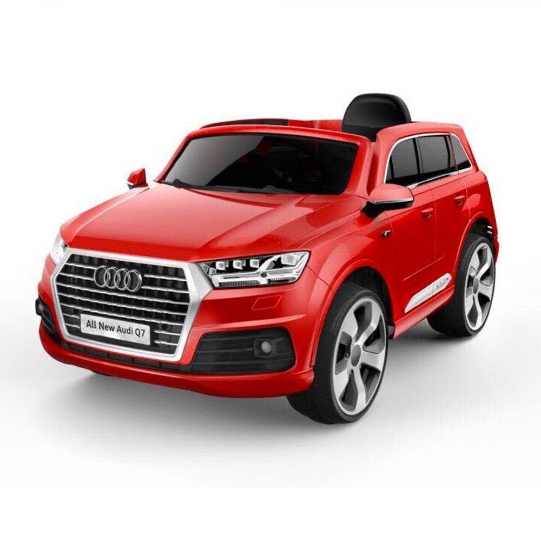 Lamas Toys Audi Q7 voiture électrique rouge avec siège en cuir et télécommande