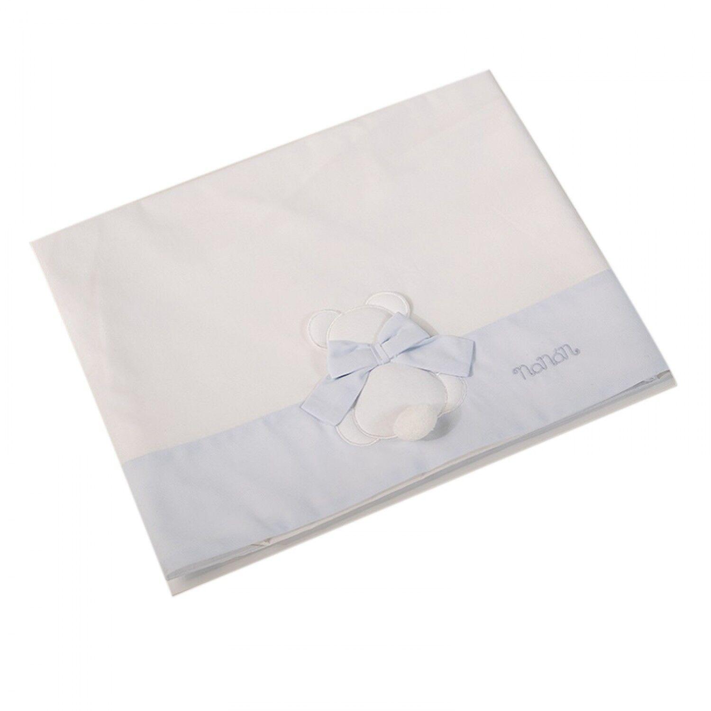 Nanan Ensemble de draps Nanan pour lit bébé 3pcs Blue Bow