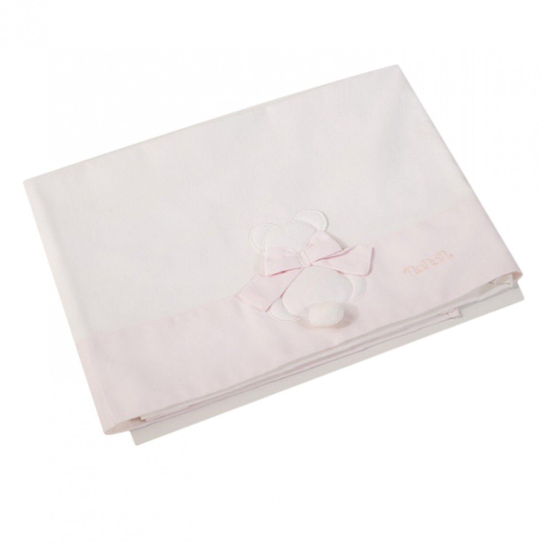 Nanan Ensemble de draps Nanan pour lit bébé 3pcs Pink Bow