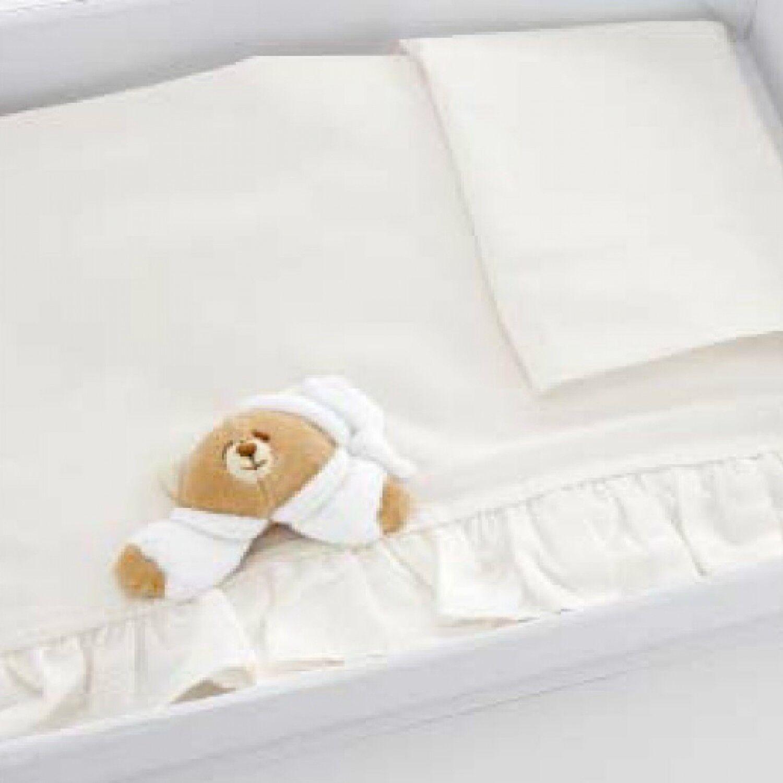 Nanan Lot de draps pour lit bébé Nanan 3pcs Tato Cream