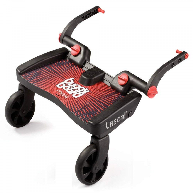 Lascal Buggyboard Maxi Planche à Roulettes Large Noir / Rouge
