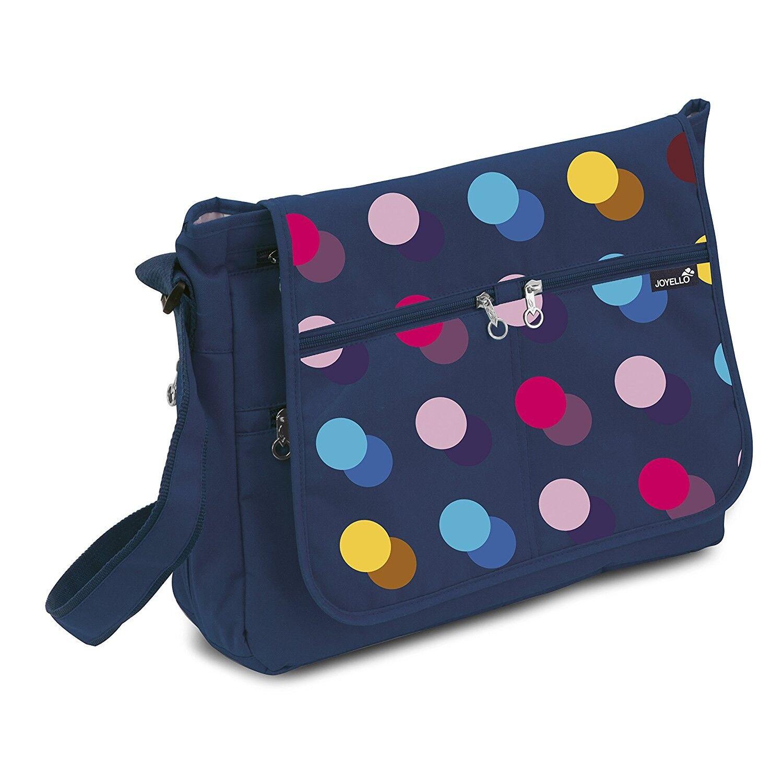 Joyello Sac de maternité Joyello confortable à pois de couleur bleu marine
