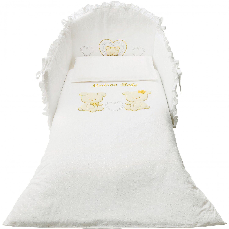 Pali Parure de lit amovible Pali Smart Maison Bebè Blanc Beige OUTLET