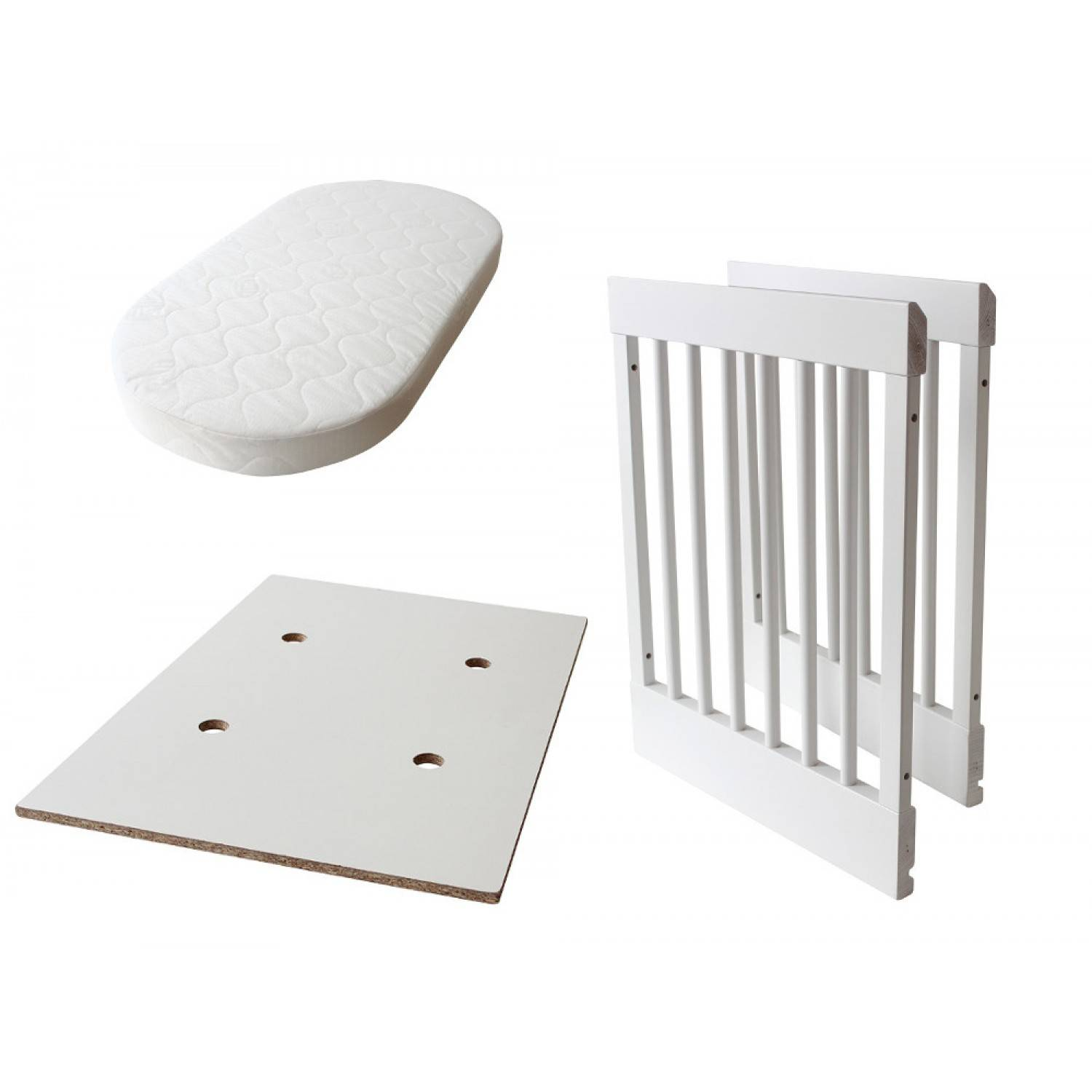 Pali Kit de transformation pour Pali Lab 03 et Lab 09 Cradle in White Bed