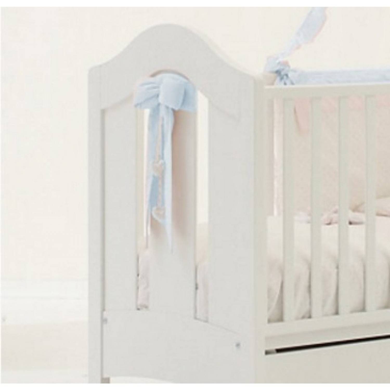 Nanan Nœud bleu Nanan pour lit bébé blanc Tato