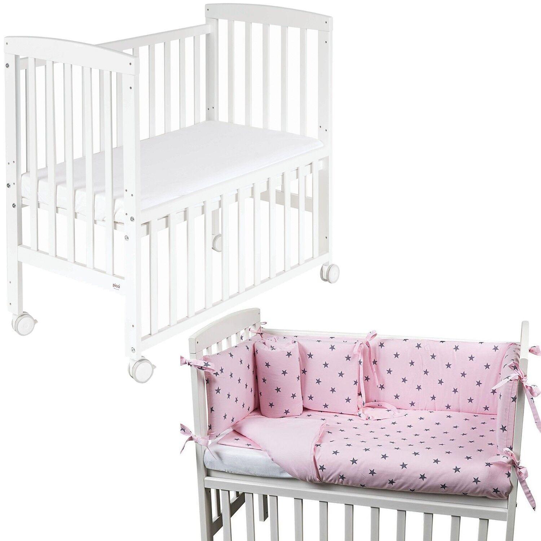 Picci Lit bébé + matelas Picci Lella et textile Stella Rosa