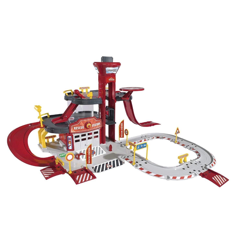 Simba Majorette Creatix Rescue Station Play Set + 5 Véhicules Et Accessoires