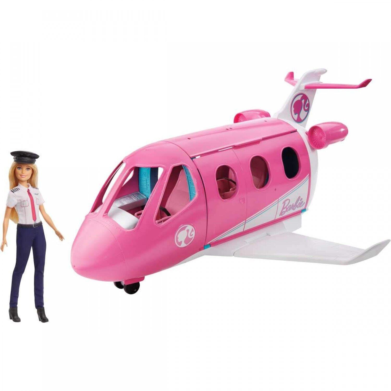 Barbie Mobilier coffret poupée pilote et son Avion de Rêve