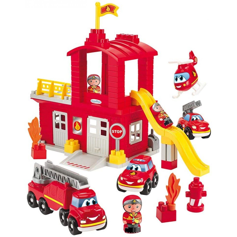 Ecoiffier Autres jeux de construction ECOIFFIER Caserne de pompiers abrick ecoiffier