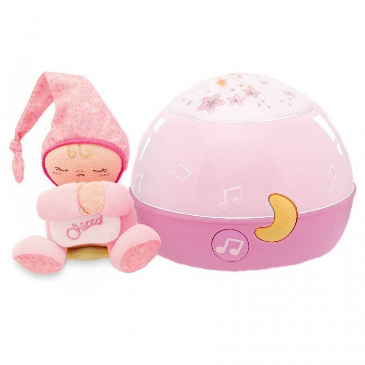 Chicco Veilleuse Ma Lampe Magic'projection First Dreams Rose