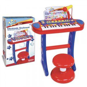Bontempi Clavier électronique Bontempi Orgue Rouge/Bleu/Blanc - Publicité