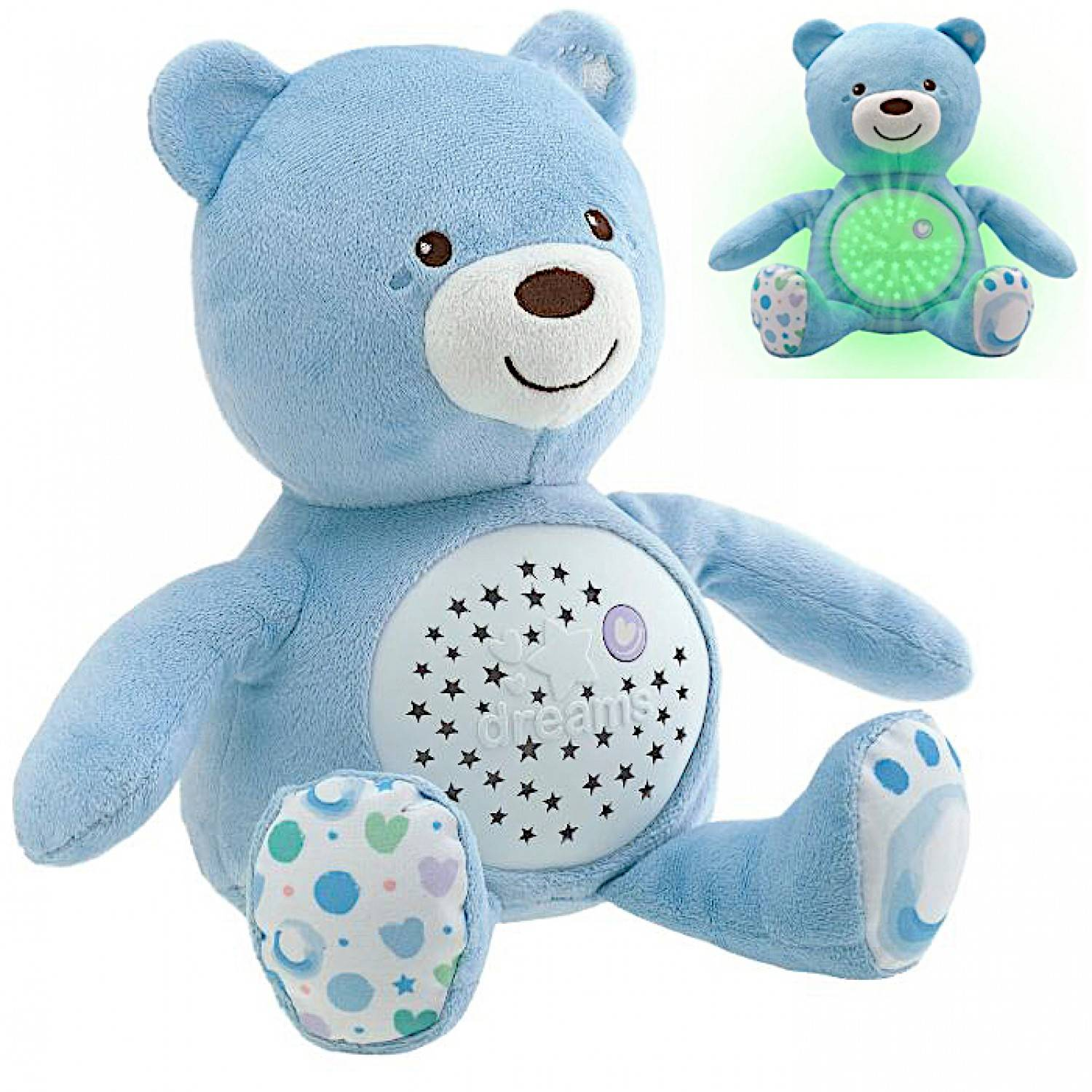 Chicco - Ourson Projecteur Baby Bear - First Dreams - Bleu