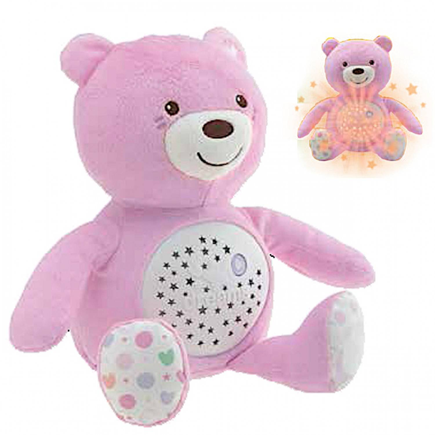 Chicco - - Ourson Projecteur Baby Bear - First Dreams - Rose