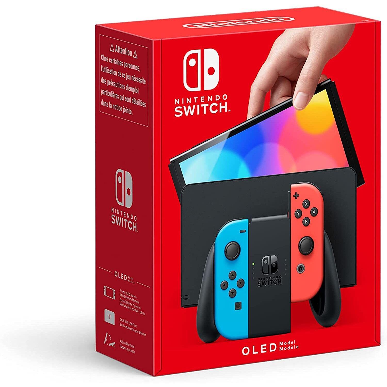 Nintendo Switch OLED Joy-Con Bleu Néon / Rouge Néon